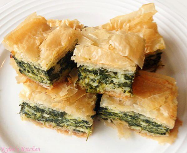Mini spinach cheese pie