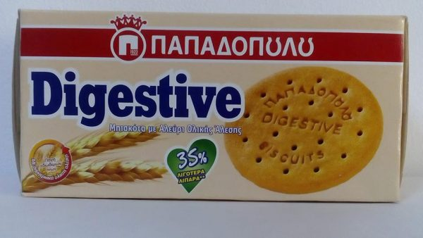 Wholegrain cookies PAPADOPOULOS-35% less fat