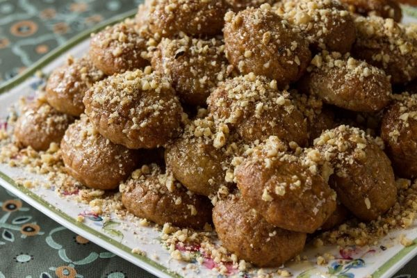 Melomakarona-greek cookies with honey and walnuts