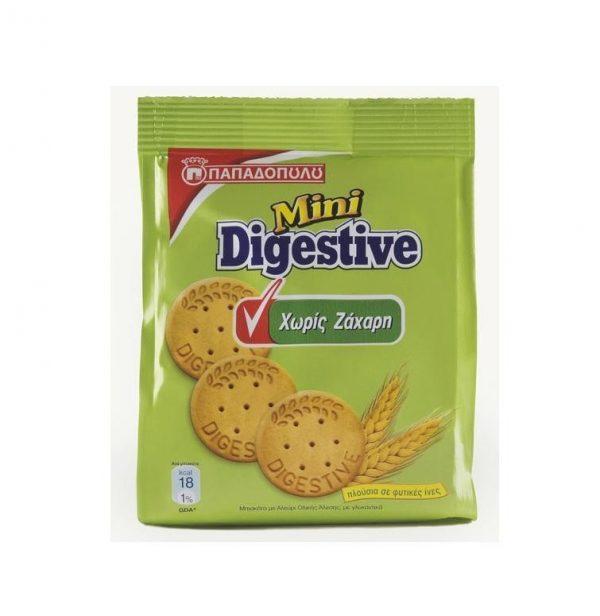 Mini digestive sugar free-Papadopoulou biscuits